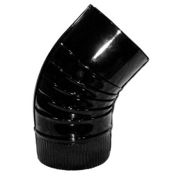 Codo estufa negro vitrifica 120mm 45°