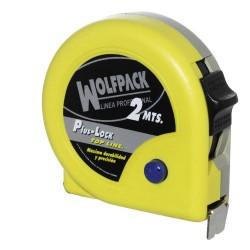 Flexometro wolfpack amarillo c/f 3 mt.