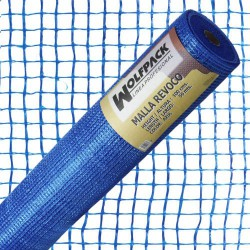 Malla revoco azul ro. 50x1mt. 10x10mm.