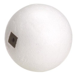 Boya corcho blanco 3/8x9 mm. rosca 3/16