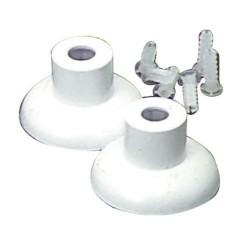 Jgo.soportes baño plastico blanco 16 mm.