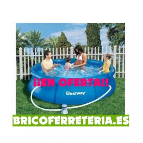 Piscina redonda bestway for Piscina redonda grande