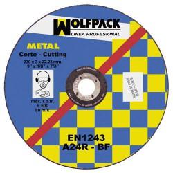 Disco wolfpack hierro 115x3,2x22