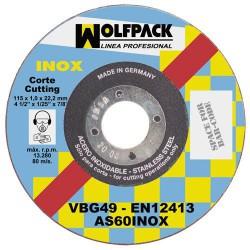 Disco wolfpack inox. 115x1,6x22,2