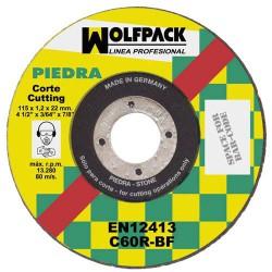 Disco wolfpack piedra fino 115x1,2