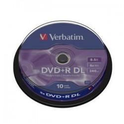 DVD+R Verbatim 2.4X 8.5 GB. Tarrina 10 Unidades