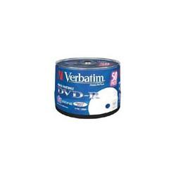DVD-R Verbatim 8X 4.7 GB. Tarrina 50 Unidades