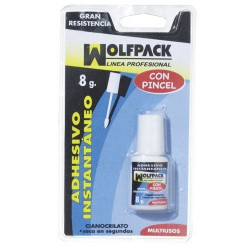 Pegamento ciano wolfpack 8 gr.c/pincel