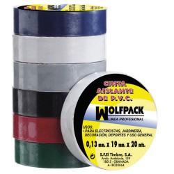 Cinta aislante wolfpack 20x19 azul
