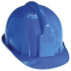 Cascos para obra maurer azul