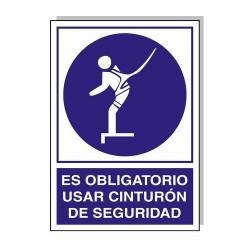 Cartel uso oblig.cinturon segurid.30x21