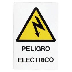 Cartel peligro electrico 30x21