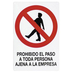 Cartel proh.paso pers.ajena empres 30x21
