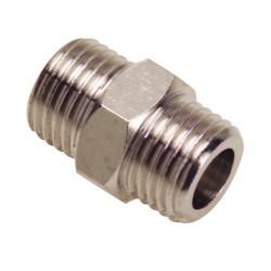 Machon doble cilindrico 1/4-1/4 (b.2 pz)