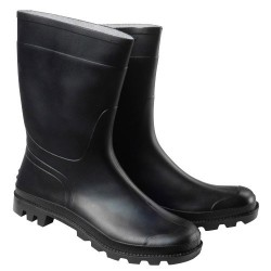 Botas goma bajas negras num.45 (par)