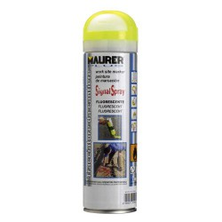 Spray maurer trazador amarillo fluoresce