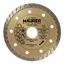 Disco diamante maurer cont.turbo 115mm