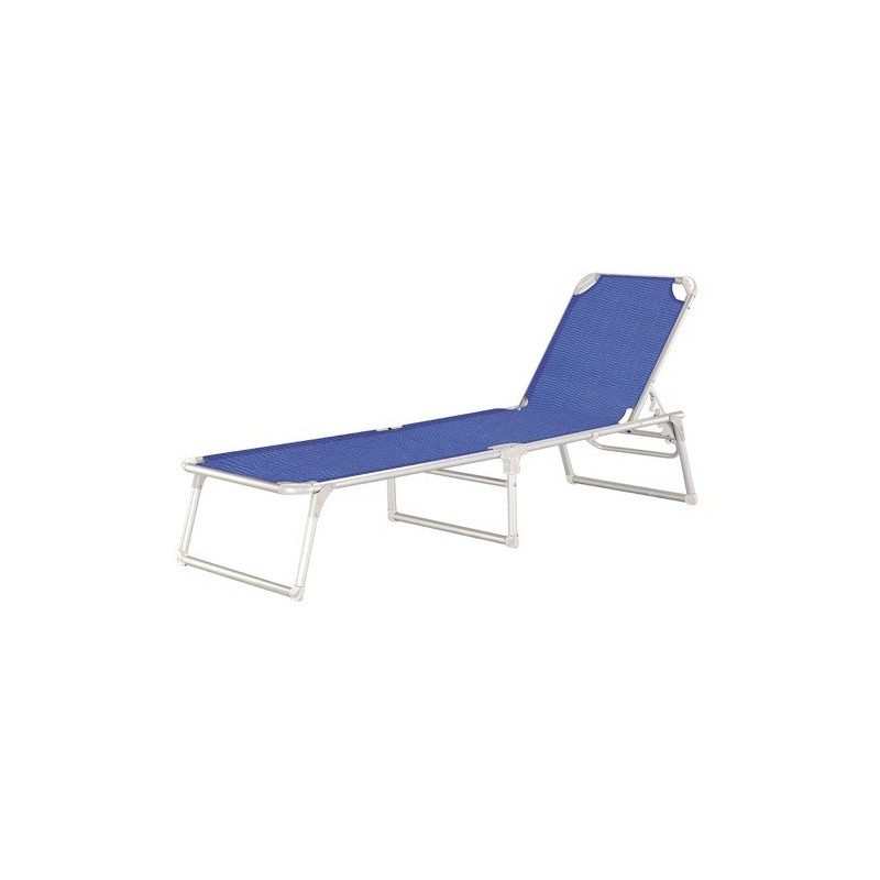 Tumbona playa aluminio cama thera azul for Tumbonas playa baratas