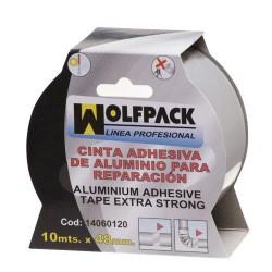 Cinta adhes.aluminio wolfpack 48mmx10mt