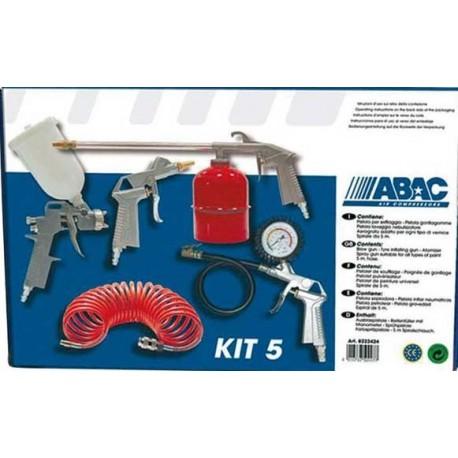 Kit compresor 5 piezas abac bricolaje - Pistola de pintura sin compresor ...