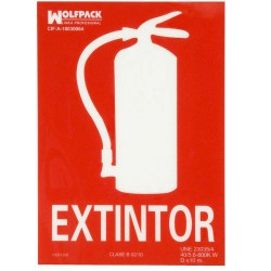 Cartel extintor 30x21