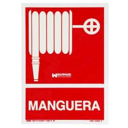 Cartel manguera 30x21