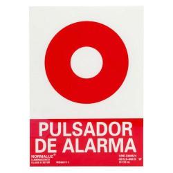 Cartel pulsador alarma 30x21