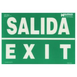 Cartel salida exit 30x42