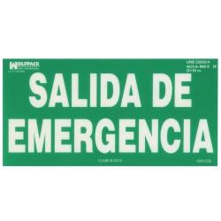 Cartel salida de emergencia 15x30