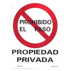 Cartel propiedad privada 41x30