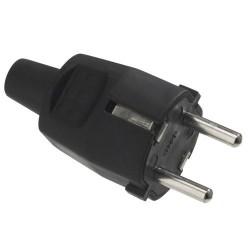 Clavija tt.goma 4,8mm negro (industrial)