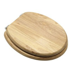 Asiento wc madera natural