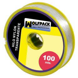 Hilo nylon transparente 0.5mm rollo 100m