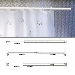 Barra p/cort.ducha ext.al.blan. 70-125cm