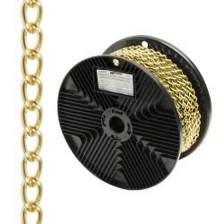Cadena deco barbada dorada 2,5mm r.20m