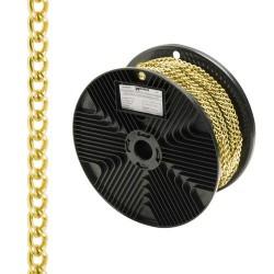 Cadena deco barbada dorada 2,0mm r.20m