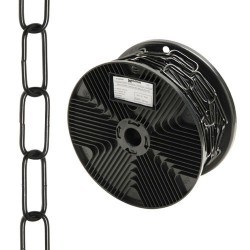 Cadena deco lisa negra 3,4x43mm r.20m