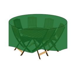 Funda cubre mesa/conjunto diam.185x100cm