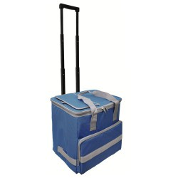 Nevera bolsa termica 38lt azul trolley