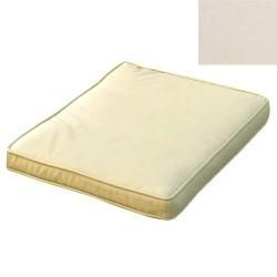Cojin p/silla 40x40x8cm beige des.c/bord