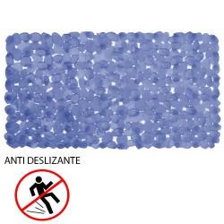 Alfombra baño antidesl.stone 69x36 azul
