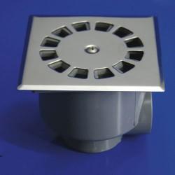 Sumidero sif. inox t-87 10x10 50-40 v-h