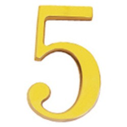 "Numero wolfpack ""5"" laton 10cm+torn-bl.1"