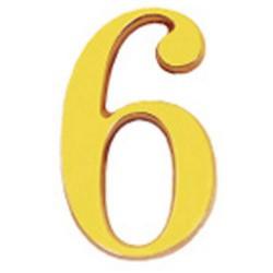 "Numero wolfpack ""6"" laton 10cm+torn-bl.1"