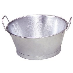 "Baño galvanizado 12"" 30x14 cm. 6 lt."