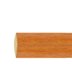 Barra madera lisa 2,1 mt.x28 mm. teca