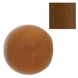 Terminal madera esfera 28x55mm nogal