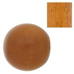 Terminal madera esfera 28x55mm teca